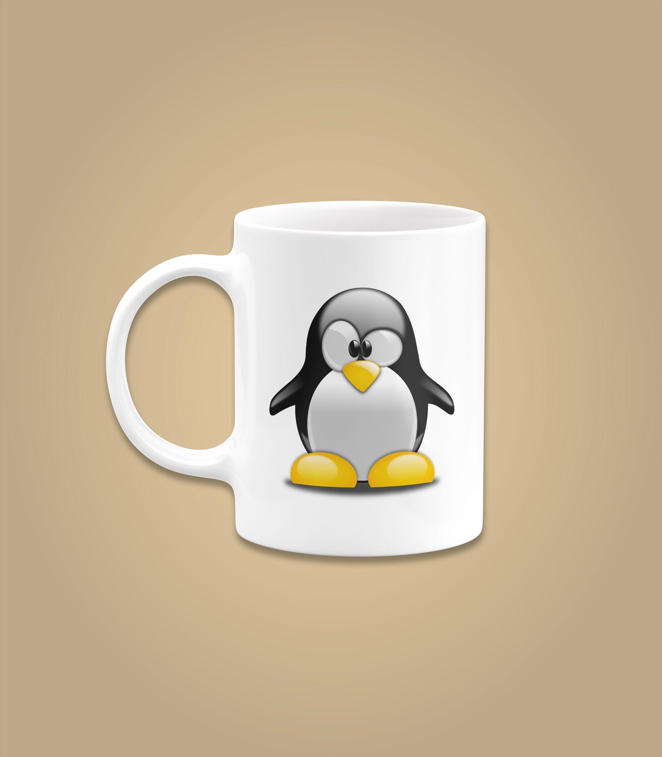 Penguin Confused Cartoon Mug